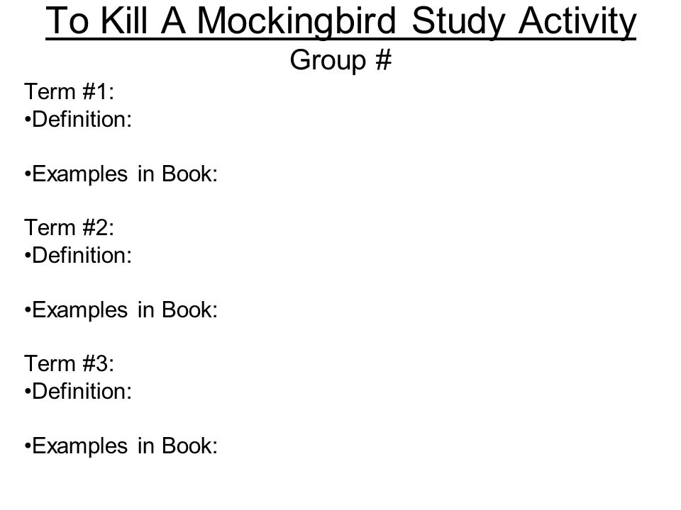 to kill a mockingbird study questions for 23 31 Read and download to kill a mockingbird study guide questions and answers chapters 26 31 free ebooks in pdf format to kill a mockingbird id tell you i love you but then id have to kill you.