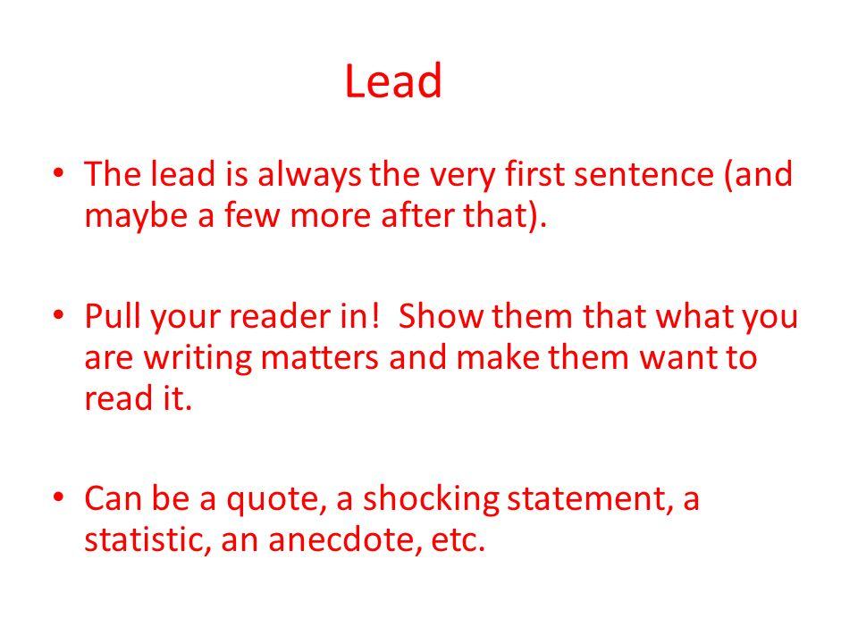 Informative Speech Thesis Statement