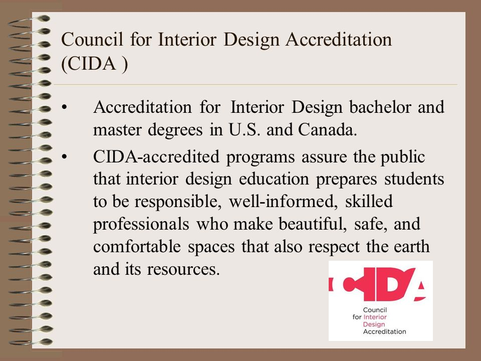 Cida Accredited Interior Design Schools interior design careers. today's learning goals: students will be