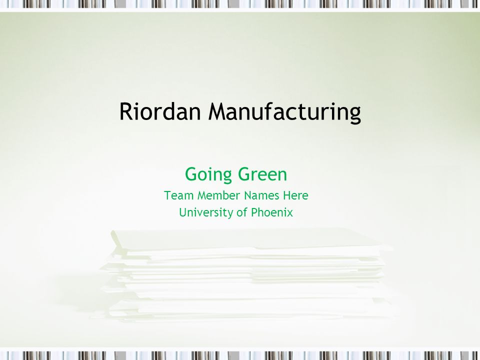 riordan manufacturing charter Pm571 week 6 individual riordan manufacturing project management plan powerpoint presentation resources virtual organization.