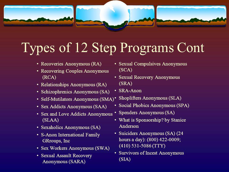 12 step program for sex addicts