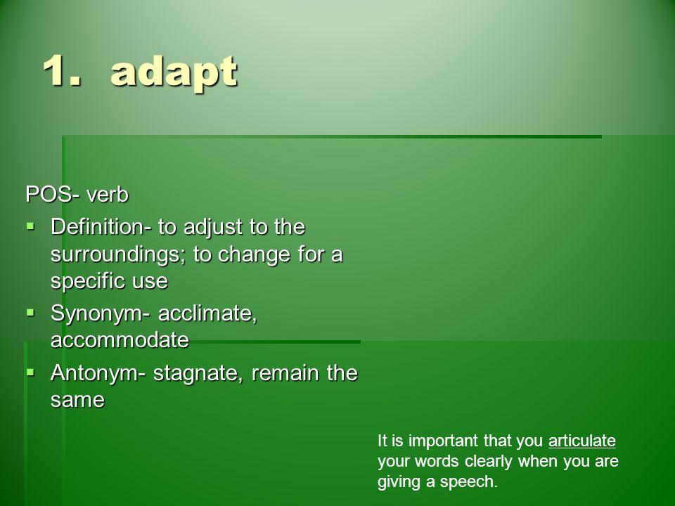 acclimate definition. 6 1. acclimate definition
