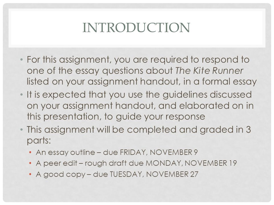 requirements and expectations the kite runner literary essay kite runner literary essay 2 introduction