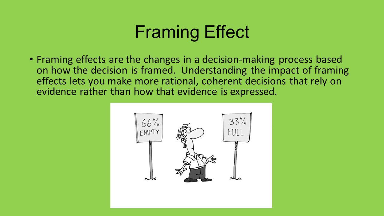 Großzügig Framing Effekt Psychologie Definition Galerie ...