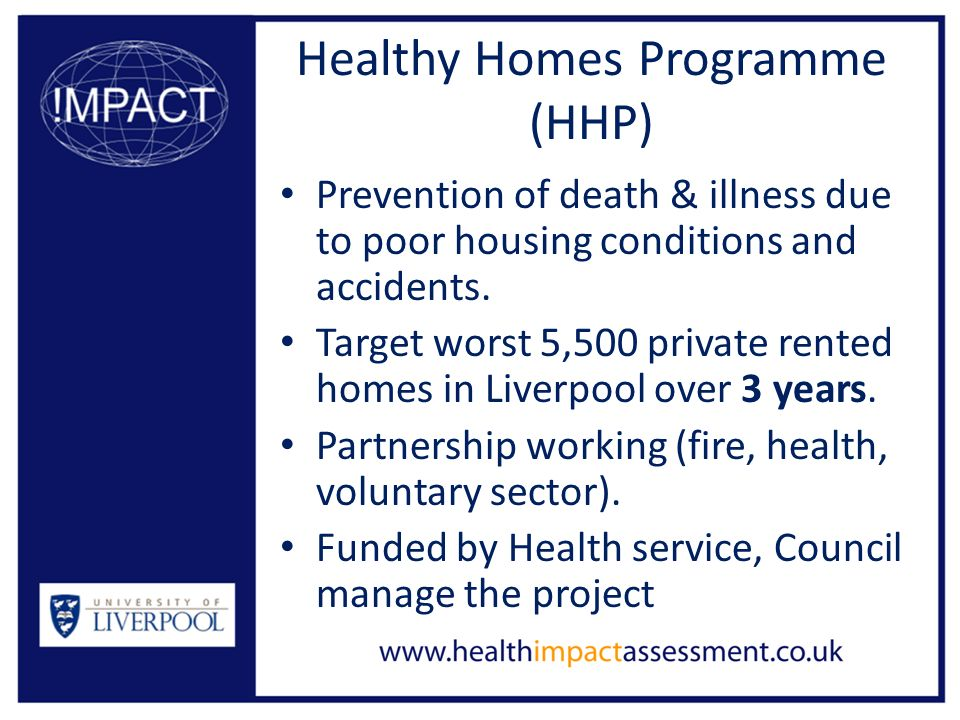 Healthy homes project liverpool