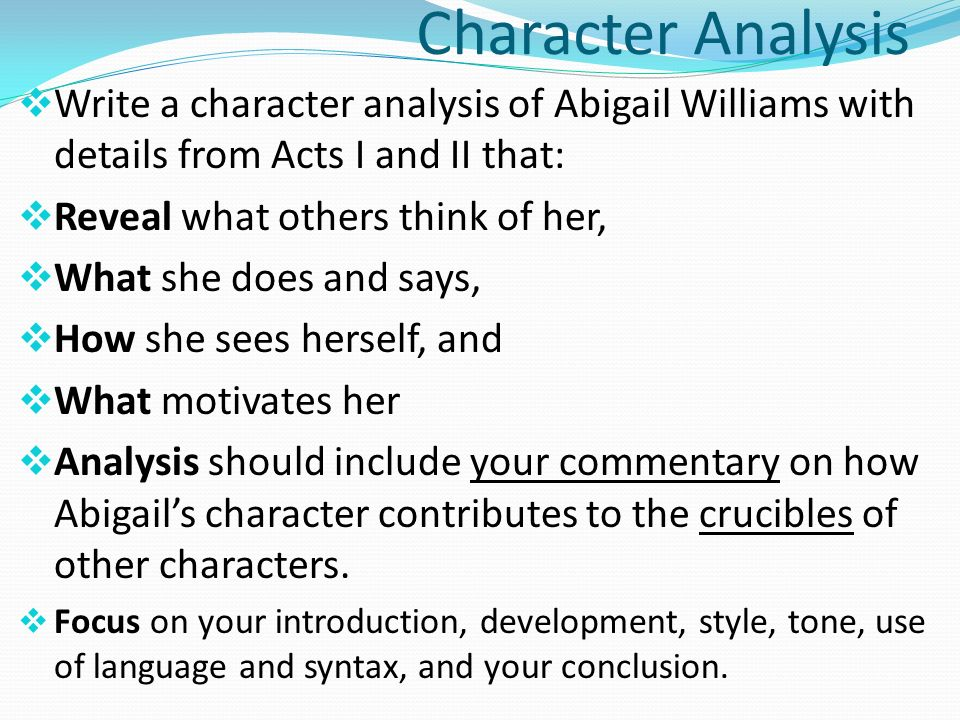 essay about character One of the most common tasks students receive in their academic life, is a character analysis essay professors have always been fond of this type of writing since it proves the capacity to understand and analyze strong literary characters.
