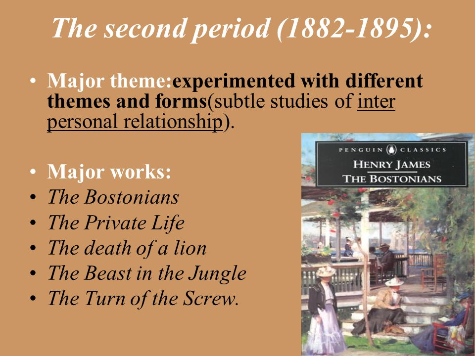 henry james the private life