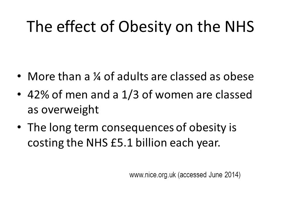 the effect of obesity