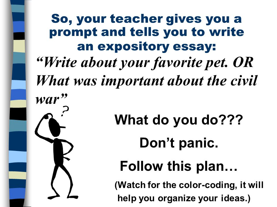 the five paragraph essay a framework for expository writing and  so your teacher gives you a prompt and tells you to write an expository essay