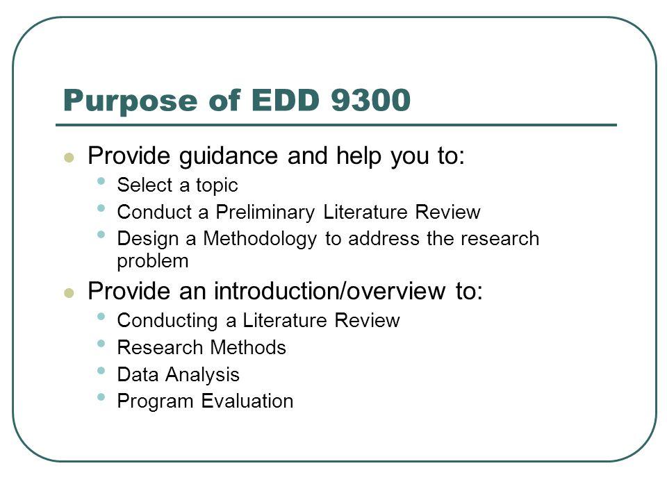 Dissertation Literature Review Purpose