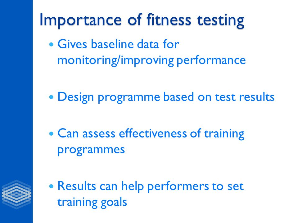 feedback of fitness tests results How to evaluate your fitness test result if you have tried one of the fitness tests  the third table represent how you would inteprete results on elite athletes.