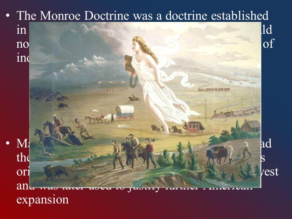the monroe doctrine and manifest destiny vs the anti imperialist league