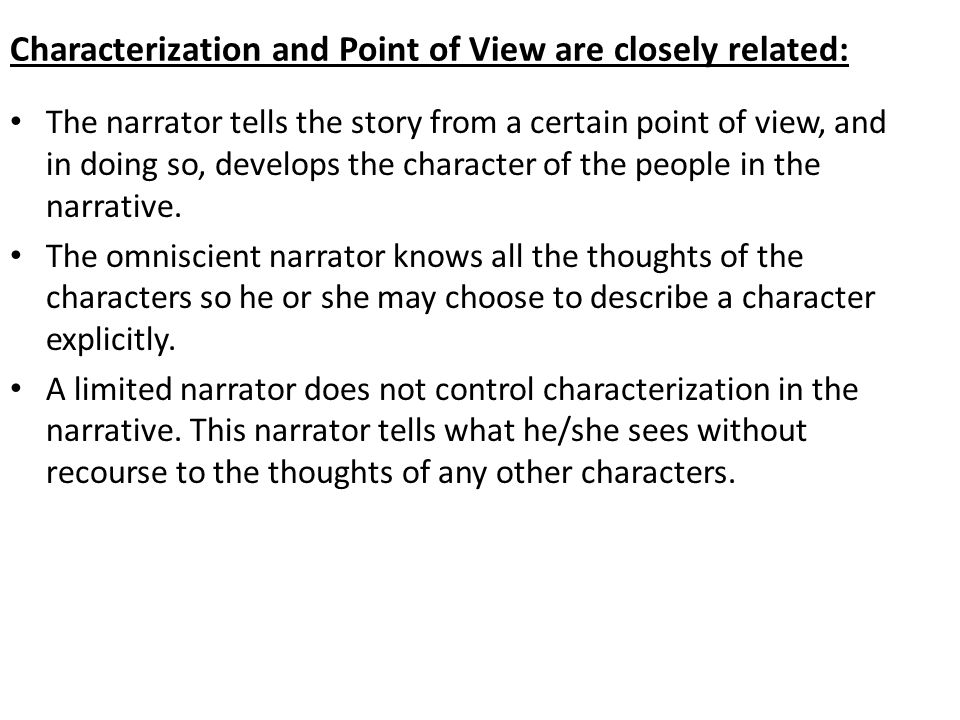 characterization and point of view in Characterization through point of view my last couple of posts have looked at the challenges of viewpoint but point of view is also a great tool.