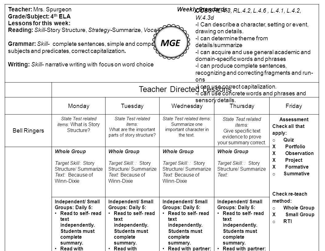m g e antonyms teacher mrs spurgeon weekly standards grade