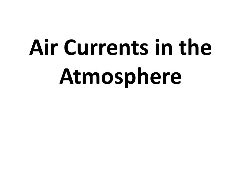Air Currents in the Atmosphere