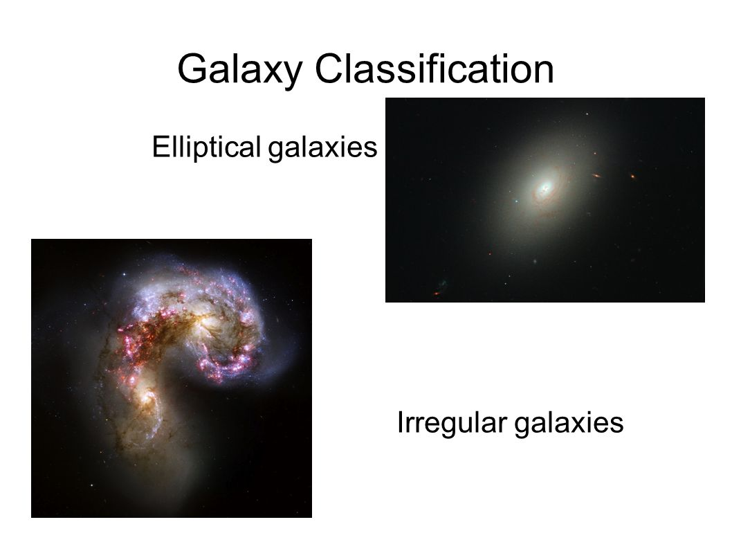 classification of galaxies Hubble's classification scheme spiral galaxies as their name implies, spiral galaxies have outstretched, curving arms suggestive of a whirlpool or pinwheel.