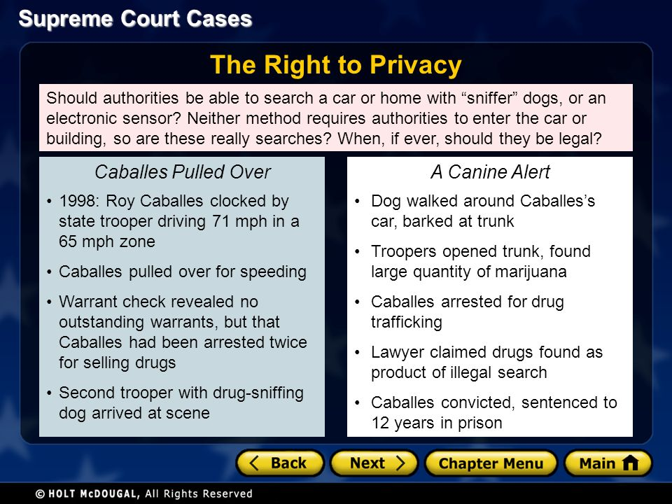 Should authorities be able to search a car or home with sniffer dogs, or an electronic sensor.