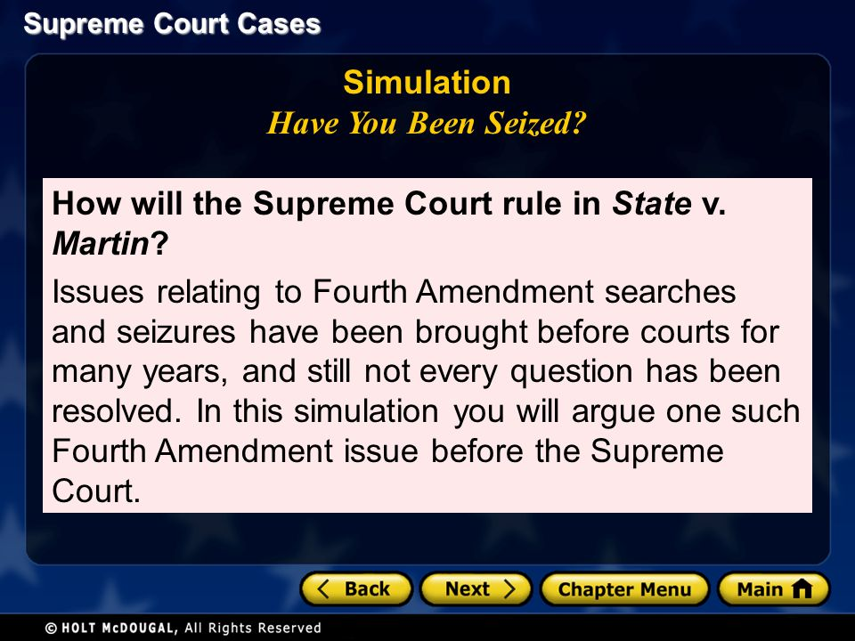 Supreme Court Cases Simulation Have You Been Seized.