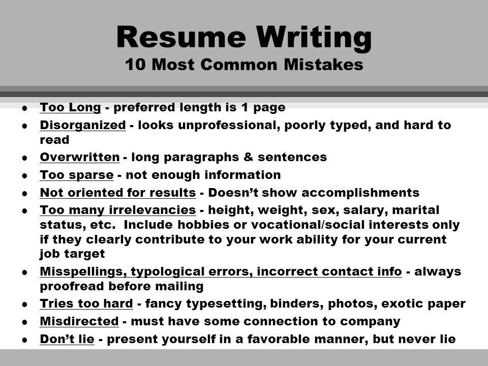 "Resume Writing ""The American Way"" Peg Dickson May ppt download"