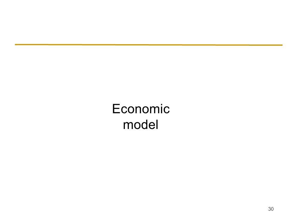 30 Economic model
