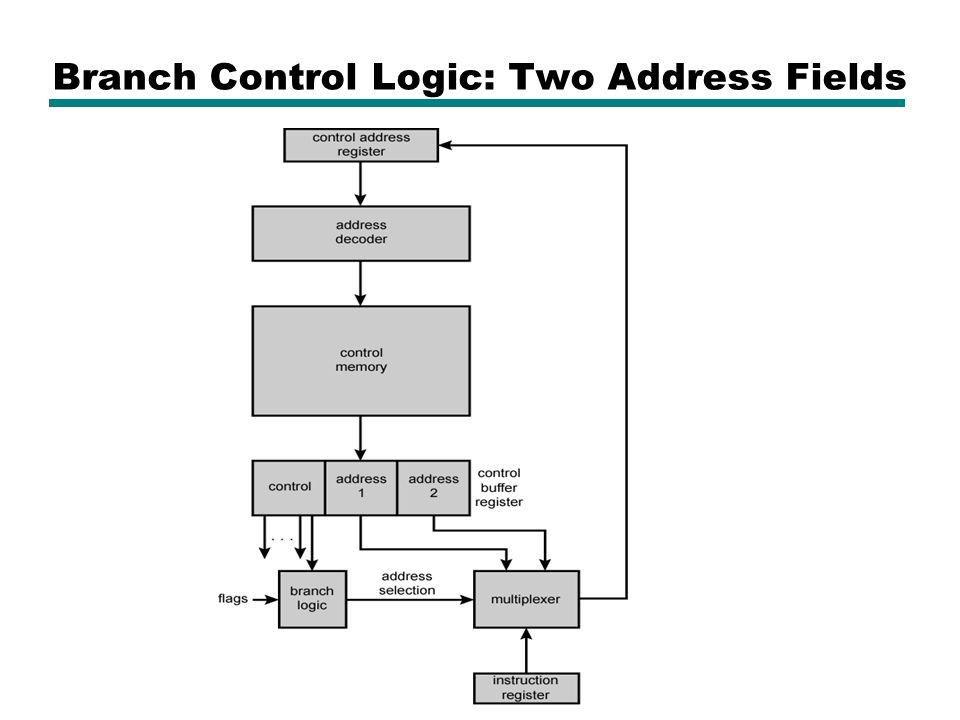 Branch Control Logic: Two Address Fields