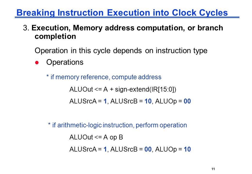 CPE232 Basic MIPS Architecture11 Breaking Instruction Execution into Clock Cycles 3.