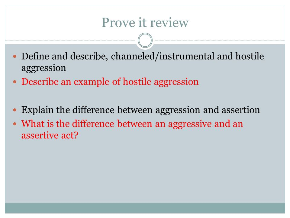 difference between hostile aggression and instrumental aggression Social psychology student personality differences in responses instrumental aggression and hostile aggression instrumental aggression often involves more.