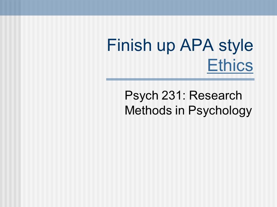 Finding An APA Style Argumentative Research Paper Sample