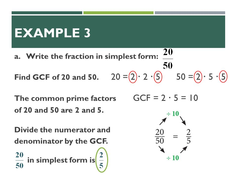 1. List the factors of List the factors of What fraction is ...
