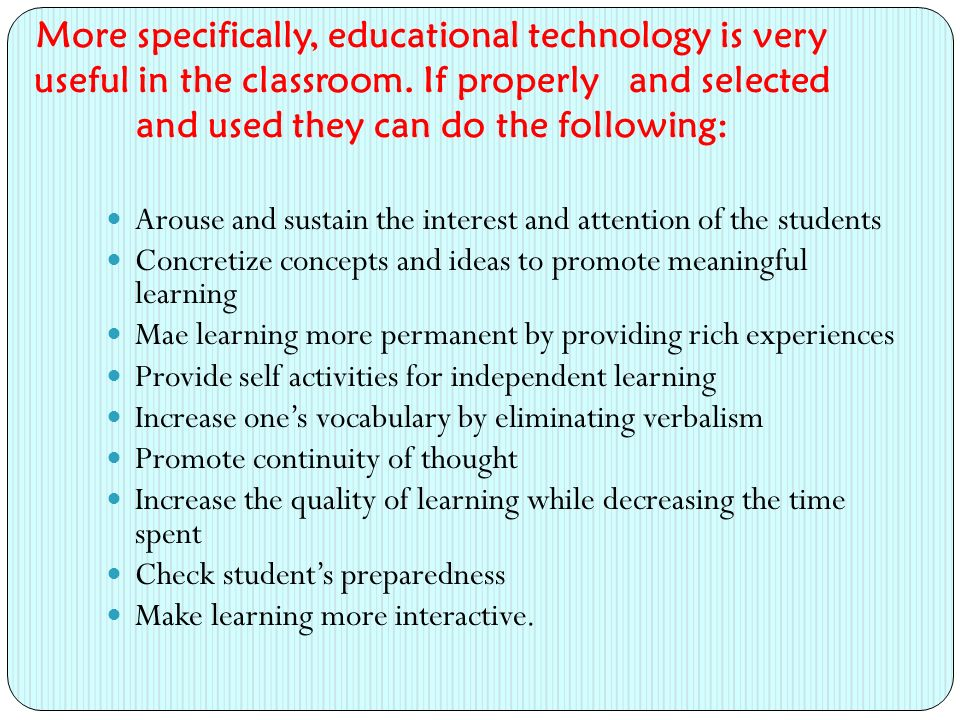 Procedures in Using Specific Technology for Teaching Previewing.