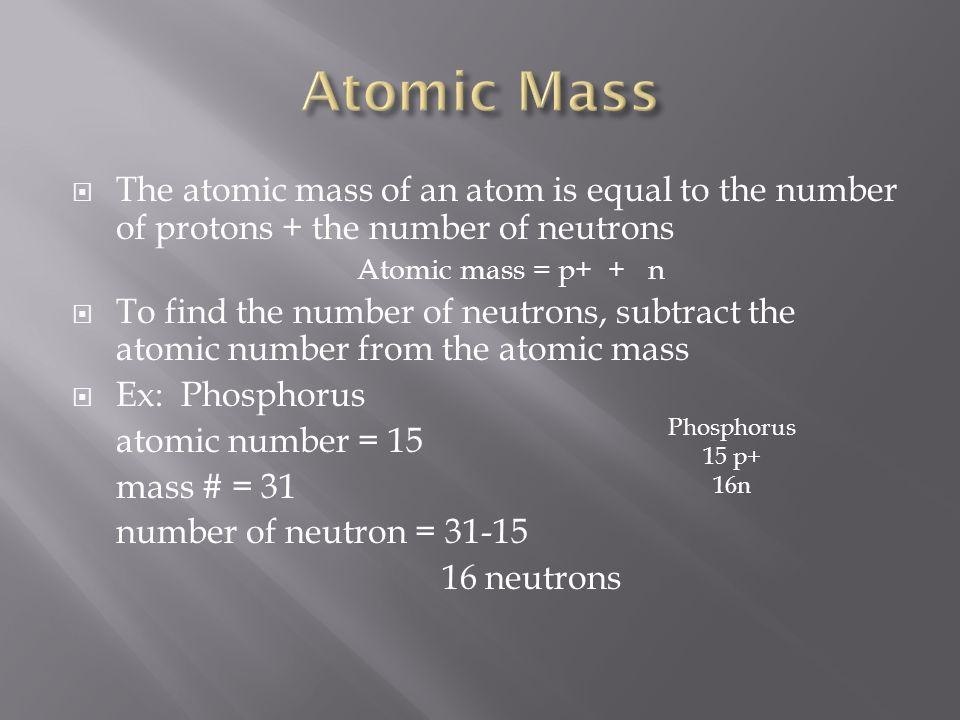 Chapter 4 section 4 there are about 118 known types of atoms 5 the atomic mass urtaz Choice Image