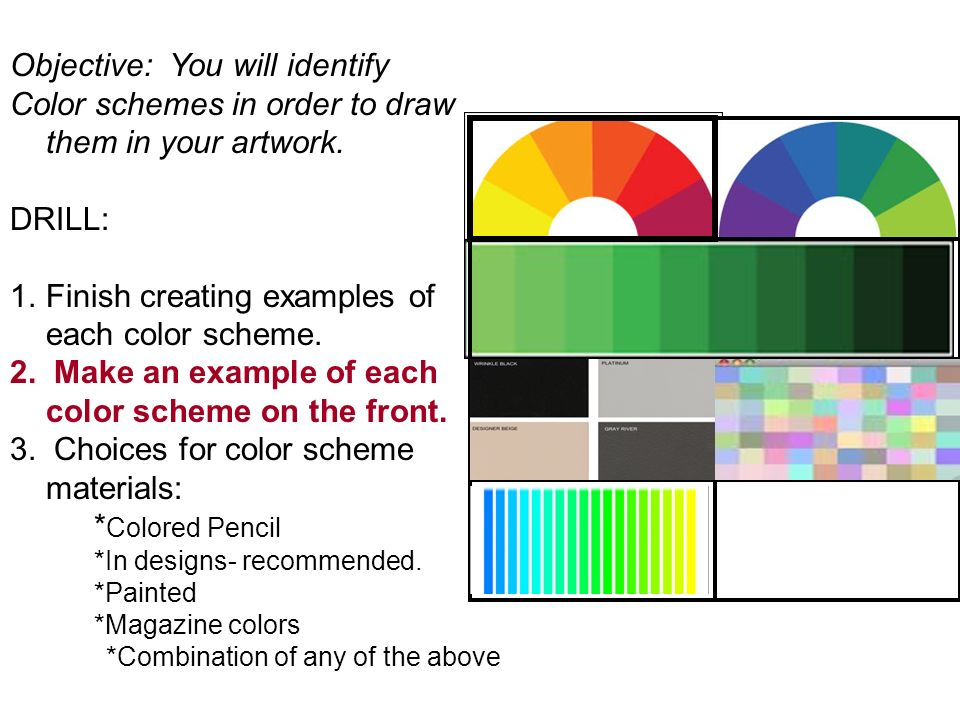 Color Schemes Examples color schemes objective: you will identify color schemes in order
