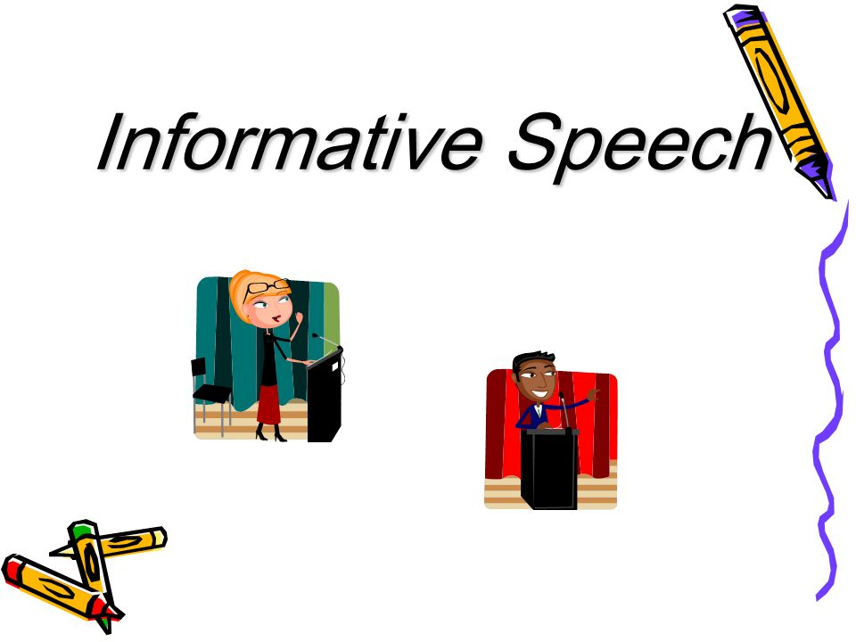 good informative speech