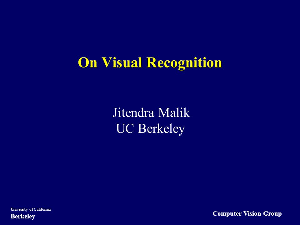 computer vision group university of california berkeley on visual, Presentation templates