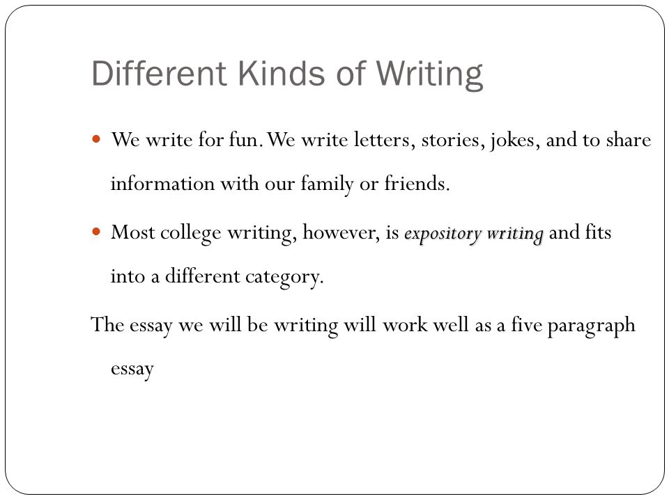 Writing an Essay for Fun?