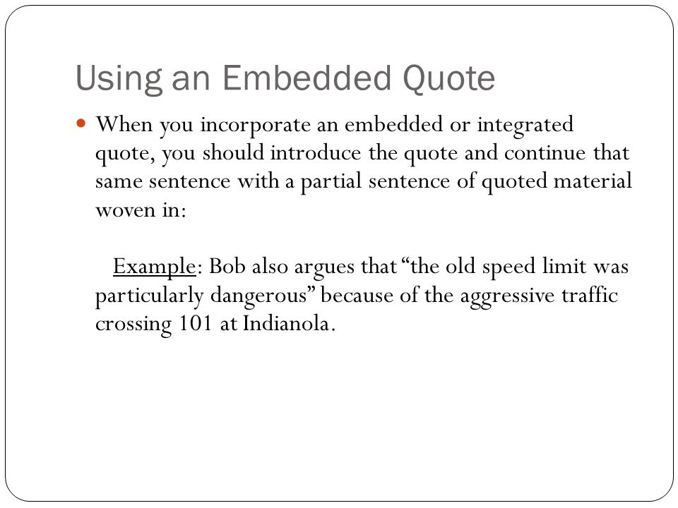 embedded quotes examples