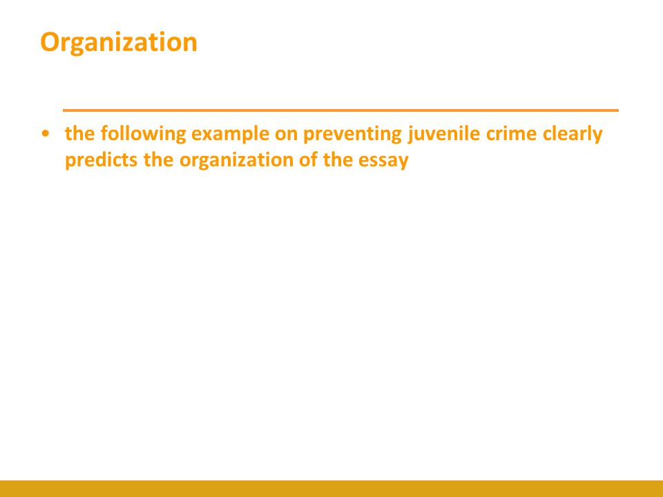 your position statement a position statement ps is the core of  15 organization the following example on preventing juvenile crime clearly predicts the organization of the essay