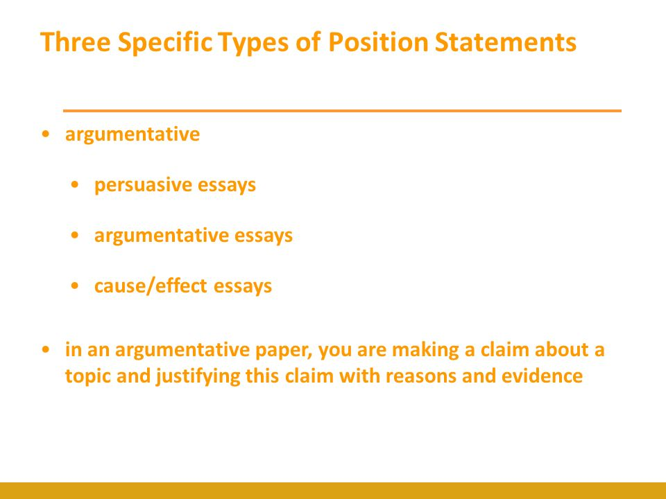 making a claim in an argumentative essay Creating a thesis statement it also tells your reader what to expect from the essay a thesis statement can be very helpful make a claim or argument in.