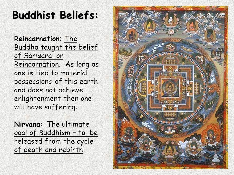 Reincarnation: The Buddha taught the belief of Samsara, or Reincarnation.
