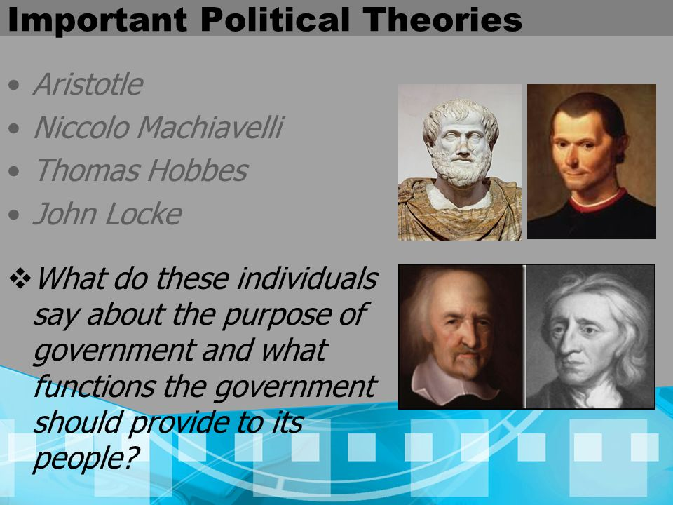 a comparison of the political philosophies of john locke and niccolo machiavelli Politics, definition, political thinkers, philosophers philosopher john locke was one of the greatest niccolo machiavelli at the.