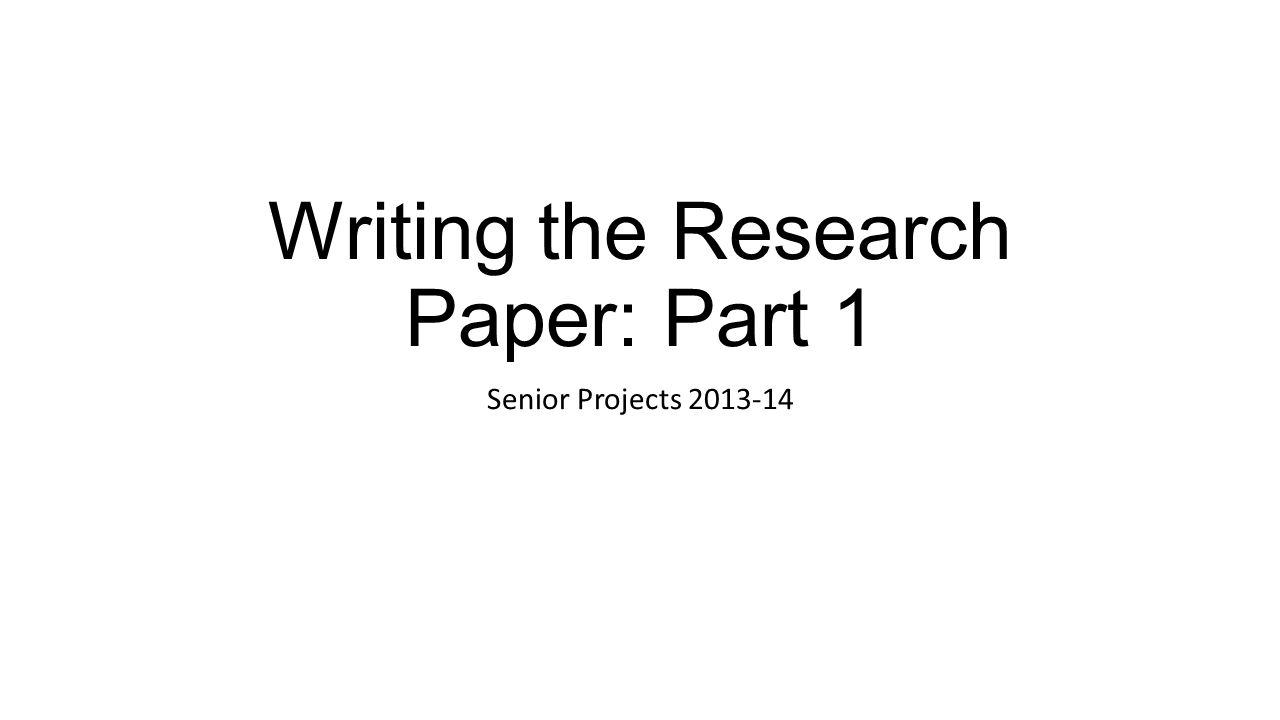 research paper senior theme