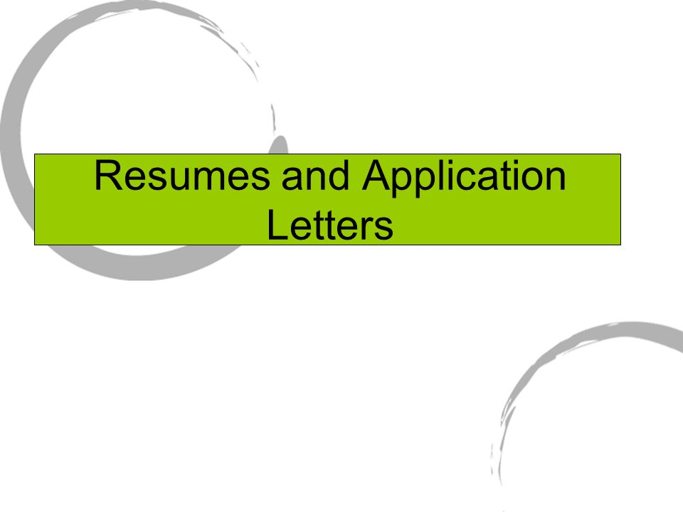 """resumes and application letters  master """"resume"""" use only    resumes and application letters"""