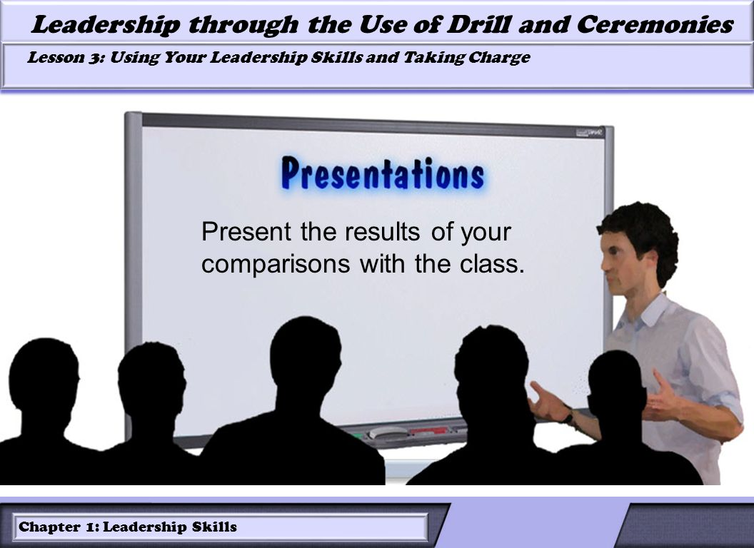 LESSON 2: ROLES OF LEADERS AND FOLLOWERS IN DRILL Leadership through the Use of Drill and Ceremonies Lesson 3: Using Your Leadership Skills and Taking