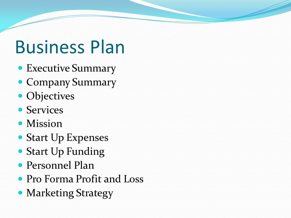 Business plan executive summary sample startup