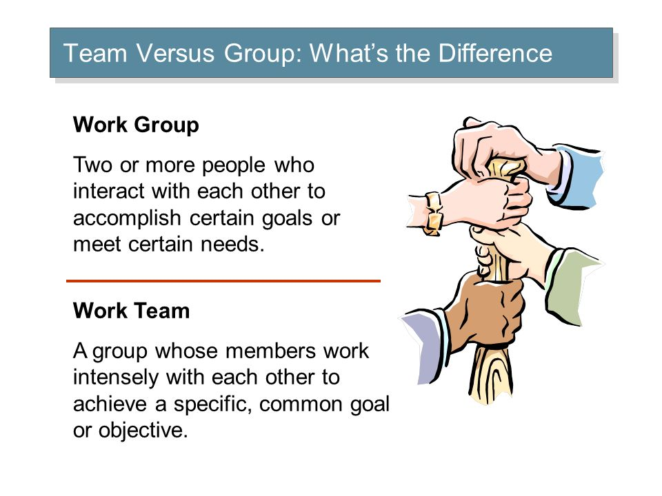 Are Groups and Teams the Same.