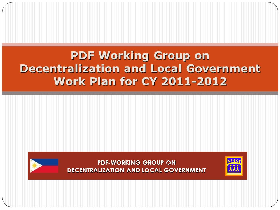 Pdf Working Group On Decentralization And Local Government Work Plan