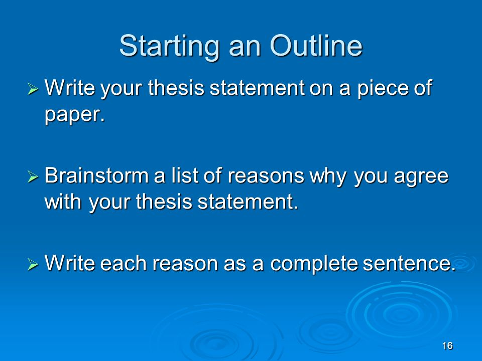 will write your thesis