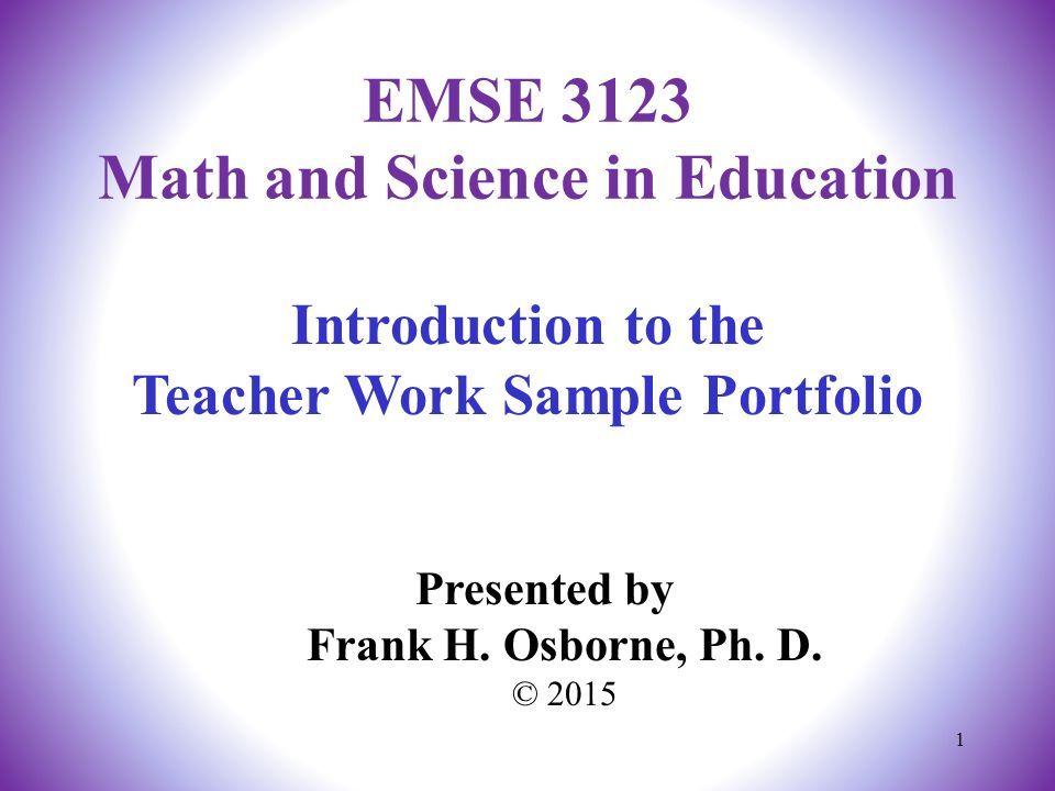 Introduction to the teacher work sample portfolio presented by frank 1 introduction to the teacher work sample portfolio thecheapjerseys Image collections