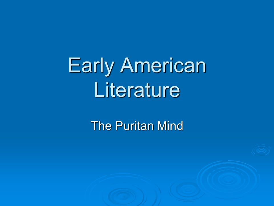 The encounters of culture and the purtians and the idea of america?