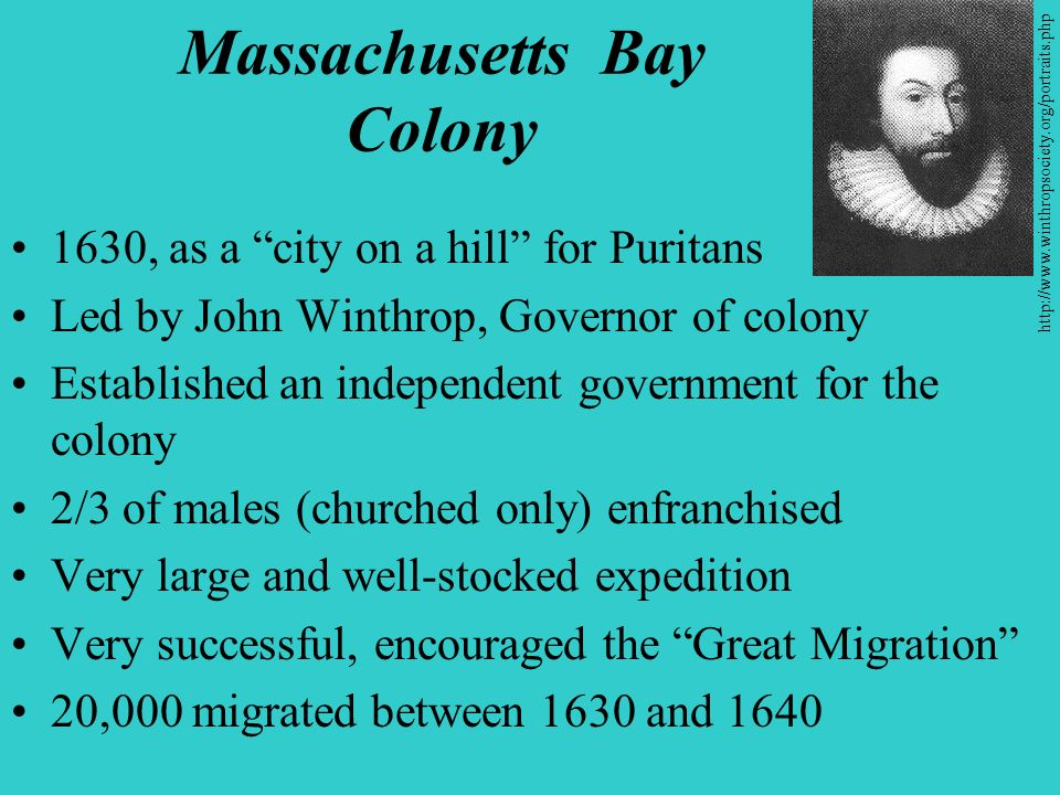 puritans massachusetts bay colony and new
